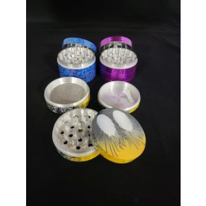 Extra Large Herb Grinder with Kief Catcher with Assorted Design